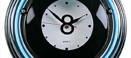 Часы неон Восьмерка