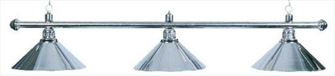 Светильник на 3 плафона серебро
