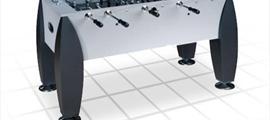 """Игровой стол - футбол """"Titan"""" (141x73x82, серебристо-черный)"""