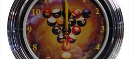 Часы неон