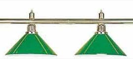 Светильник на 4 плафона зеленый
