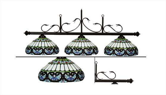 Светильник на 3 плафона Касабланка