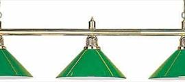 Светильник на 3 плафона зеленый