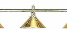 Светильник на 3 плафона золото